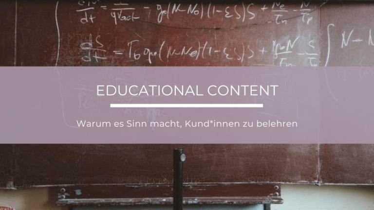 Definition, Formate und Einsatzbereiche von Educational Content