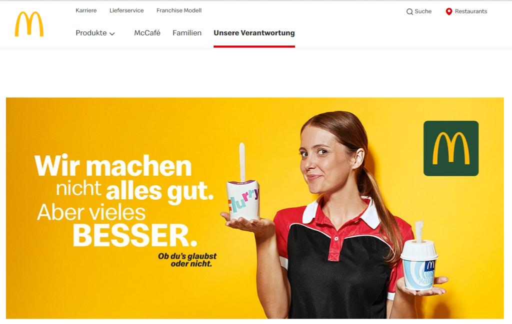 Nachhaltigkeit kommunizieren: Eine Kampagne von McDonalds