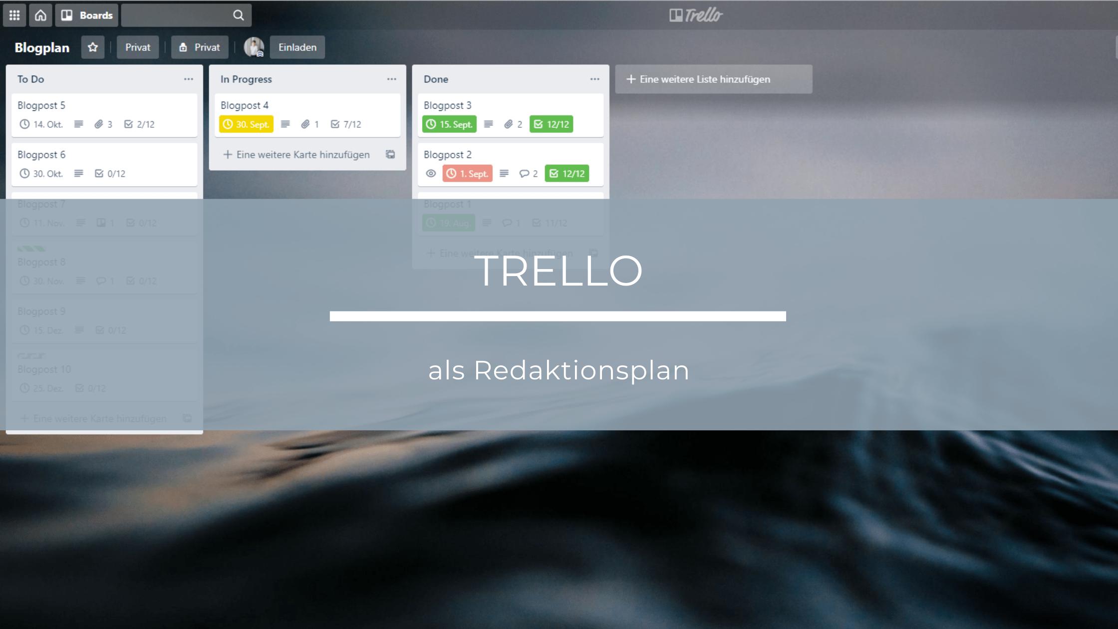 Wie du mit Trello einen superstrukturierten Content-Plan erstellt