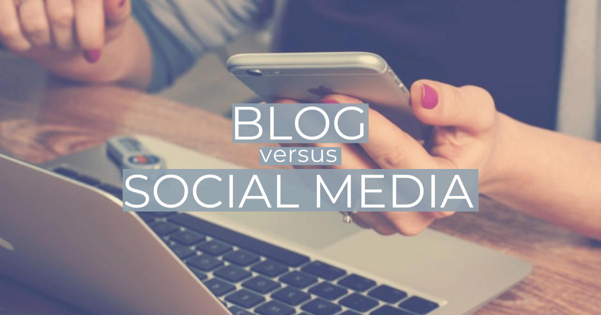 Vergleich Blog vs Social Media