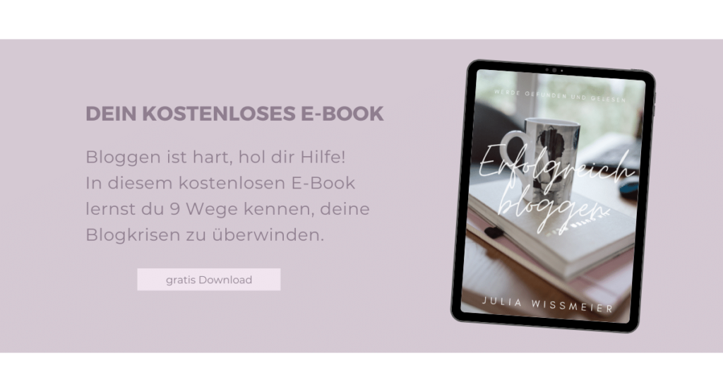 Download meines kostenlosen E-Books Erfolgreich bloggen