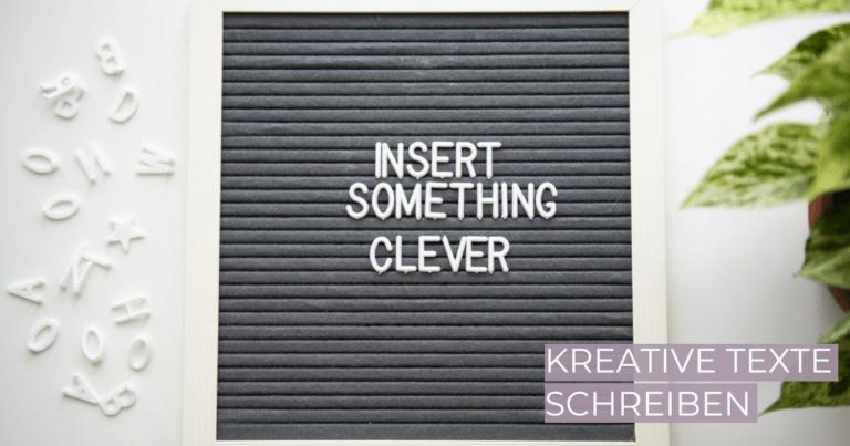 Kreative Texte schreiben - wie geht's?