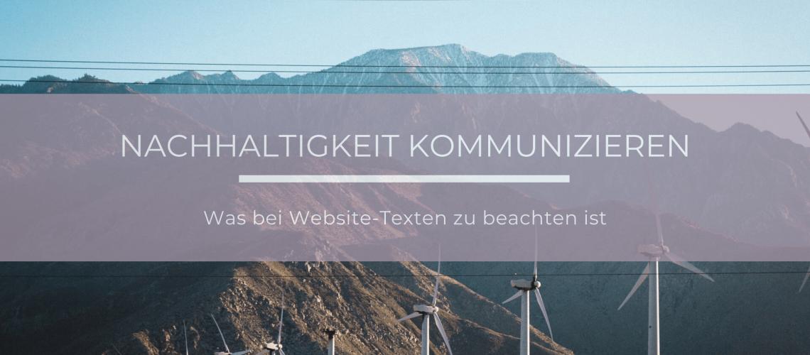 Wie man als Unternehmen Nachhaltigkeit auf seiner Website kommunizieren sollte
